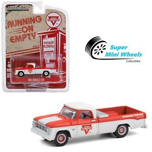 Greenlight 1:64 Running On Empty - 1965 Dodge D-100 White&Red - Conoco Roadside