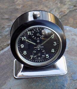 Vintage Junghans Bivox Black Cased  Wind-Up Alarm Clock