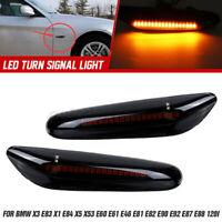 2pcs LED Feux gabarit latéral clignotant Fumée pour BMW E83 E84 X53 E60 E61 E46