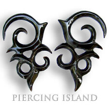 Ohrringe aus Horn Handarbeit Piercing Design Earrings Organic 237