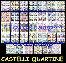 Castelli d'Italia 1980 1991 Rotocalco 1994 in quartine MNH** LUSSO !!