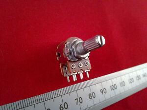 Stereo Potentiometer 16mm, Audio Taper Splined Dual Log A Volume Logarithmic Pot