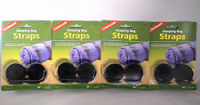"""4 PAIR SLEEPING BAG STRAPS 3/4"""" STRONG POLYPROPYLENE WITH QUICK RELEASE BUCKLE"""
