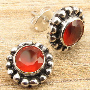 WOMEN'S JEWELRY ! Price Start From $0.99 ! CARNELIAN Earrings, 925 Silver Plated