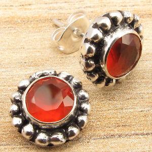 WOMEN'S JEWELRY ! Price Start From $0.99 ! CARNELIAN Earrings, 925 Silver Plated