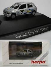 "Herpa Renault Clio 16V ""DIAC"" F PC 100557 OVP neu 1:87"
