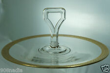 ANTIQUE TIFFIN CLEAR GLASS TRAY/PLATTER/CUP CAKE PLATE W/ HANDLE