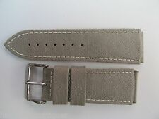 Leather Strap And Buckle By Glycine #B .24Mm High Grade Desert Camo Canvas &