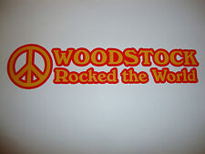 2 X Woodstock Rocked The World Stickers Groups Bands Music Festival Rock N Roll