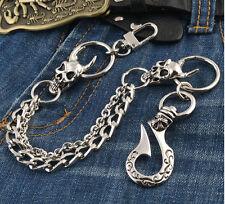 Short Skull Connect Classic Biker Trucker Keychain Key Jean Wallet Chain CS101