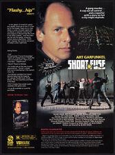 SHORT FUSE__Orig. 1989 Trade print AD__ART GARFUNKEL__Robert DoQui__HARRIS YULIN