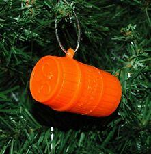 Monkeys In A Orange Barrell Christmas Ornament