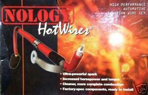 NOLOGY HOTWIRES SPARK PLUG WIRES SET 88-95 HONDA CIVIC CX DX LX CRX BLUE Si