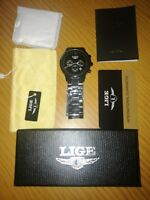 Watches for Men,LIGE Mens Fashion Leather Strap Waterproof Sport Military hi