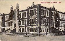 C29/ El Reno Oklahoma Ok Postcard 1912 High School Building