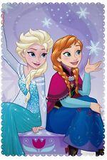 Disney Frozen Transparent Print Fleece Blanket Large Elsa 100cm X 150cm