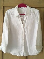 Jaeger white linen top size 12