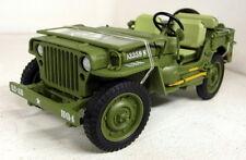 Triple9 1/18 SCALA WW2 1942 US ARMY JEEP WILLYS VERDE pressofusione modello auto