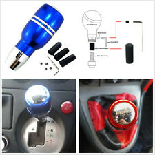 Blue Car Automatic Gear Stick Shift Knob Aluminum Shifter Lever With 3 Adapters