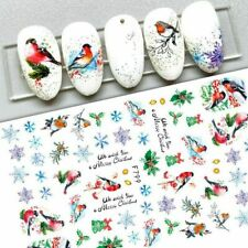 Nail Art Stickers Decals Christmas Snowflakes Mistletoe Robin Holly Fern (F799)