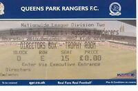 Ticket - Queens Park Rangers v Wycombe Wanderers 26.12.02