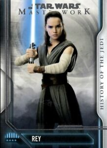 Star Wars Masterwork 2018 History Of The Jedi Chase Set, 10 Cards, Topps