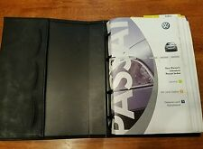 2001 01 Volkswagen Passat Owners Manual books with binder oem VW
