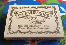 Vintage The Abbey Road Beef N Booze Matchbox Florida Palm Beach Lighthouse Pt.