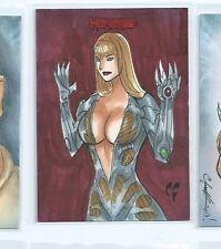 2014 Breygent Witchblade sketch card Chris Foulkes
