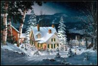 Friends in Winter - Counted Cross Stitch Patterns Needlework for embroidery