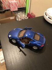 """5"""" Kinsmart Porsche Cayman S Diecast Toy Car 1:34 Blue"""