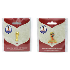 2018 FIFA WORLD CUP RUSSIA (2) OFFICIAL COLLECTOR PINS  TROPHY +RUSSIA 2018 PIN