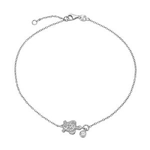 Nautical Turtle Marine Life CZ Accent Anklet Ankle Bracelet For Women Gold