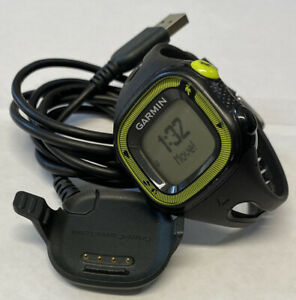 Garmin Forerunner 15 GPS Running Watch Black & Yellow With Charging Cable