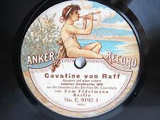 78rpm SAM FIDELMANN Violin - RAFF+DRDLA - GERMAN ACOUSTIC ANKER RECORD