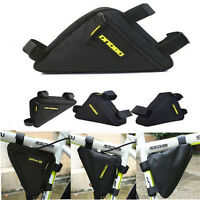 Black Front Tube Triangle Bag Pouch Cycling Bike Bicycle Release Frame Pannier