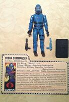 VTG 1982 GI JOE ARAH MICKEY MOUSE COBRA ~ COBRA COMMANDER ~ STRAIGHT ARM FIGURE