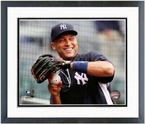 """Derek Jeter New York Yankees MLB Action Photo (Size: 12.5"""" x 15.5"""") Framed"""