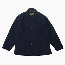 Mens Timberland Weathergear Heavyweight Wool Padded Jacket Coat XL Navy Blue