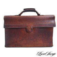 PATINA GALORE Vintage 1960s Hartmann Brown Leather Flap Atache Briefcase Bag NR
