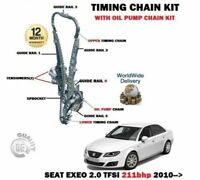 FOR SEAT EXEO + ST 2.0 TFSI 211bhp 2010-> NEW TIMING CHAIN KIT + OIL PUMP SET