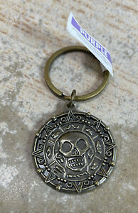 Disney Pirates Of The Caribbean Dead Man's Chest Aztec Coin Keychain