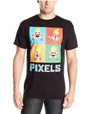 Pixels Men's Lady Lisa Square T-Shirt, Black, Small