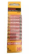 Kodak AAA Batteries Super Heavy Duty Zinc 11 Pack New & Genuine