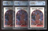 (3) Count Lot Michael Jordan 1989-90 Hoops #200 Chicago Bulls HOF GEM MINT 10