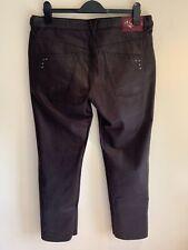 Gil Bret - Ladies Straight Wet Look Jeans, Aubergine, UK 18 EU 46