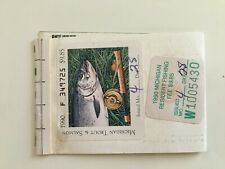 1990 Michigan Resident Trout & Salmon Fishing License With Fish Stamp. Vintage