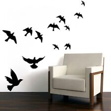 Simple Wall Stickers Carved Removable Little Bird 1pc Black Bedroom Sticker KS