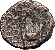 PELLA Macedonia 2-1cBC Authentic Ancient Greek Coin APOLLO & KITHARA LYRE i62199