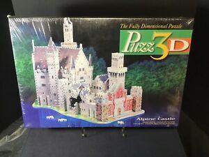 Vintage Puzz 3D Alpine Castle 1000 Piece Puzzle Super Challenging 1994 Sealed